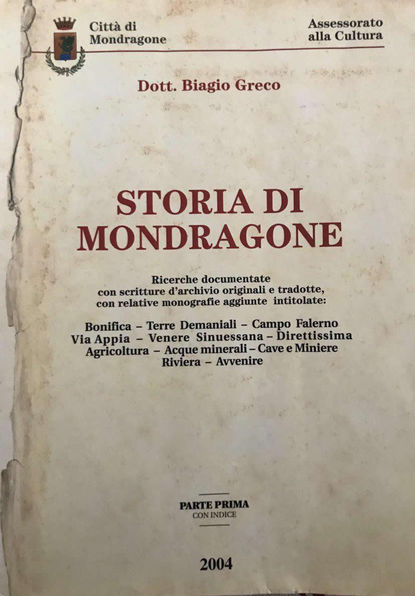 Storia di Mondragone di Biagio Greco