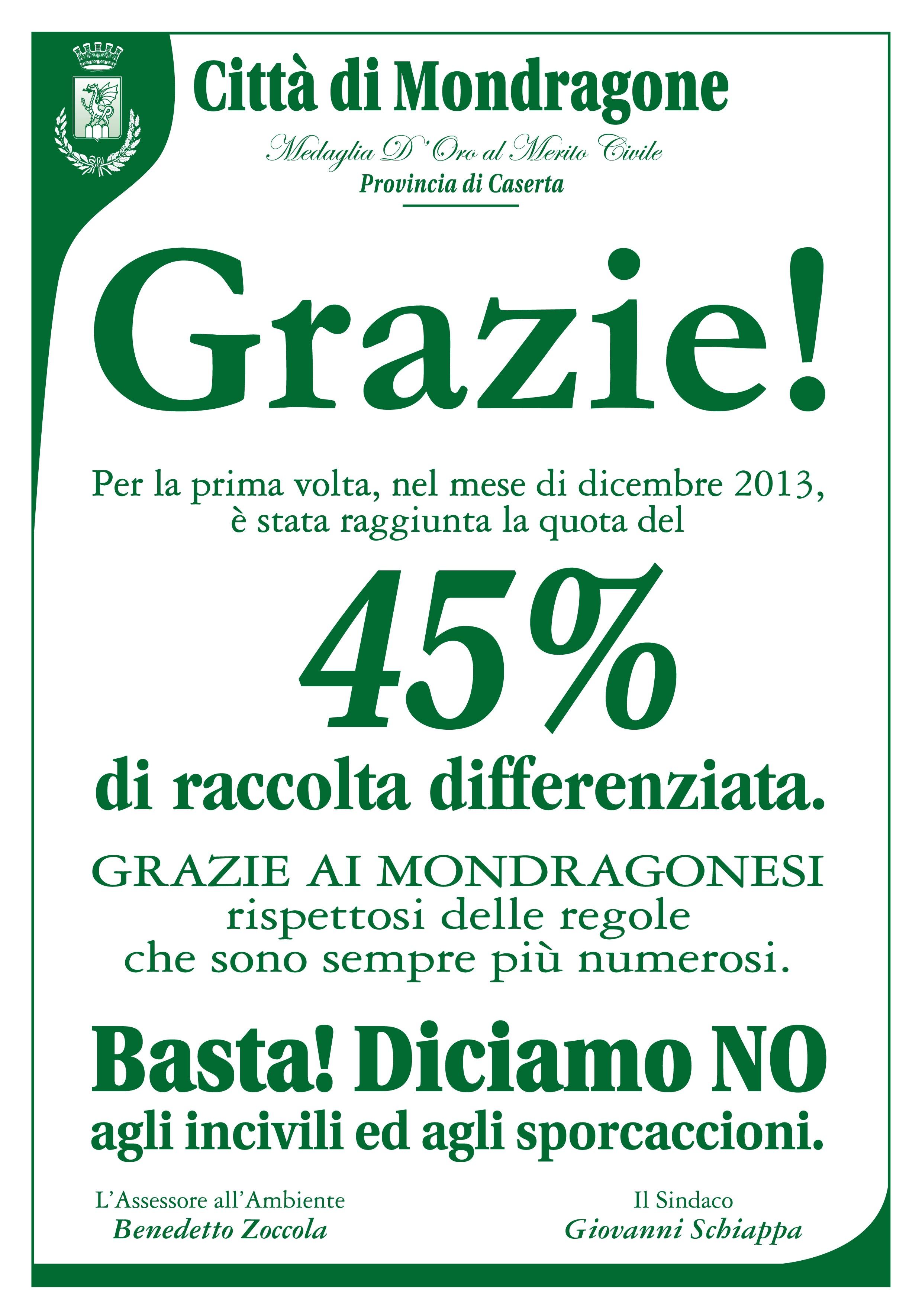 manifesto differenziata 2014