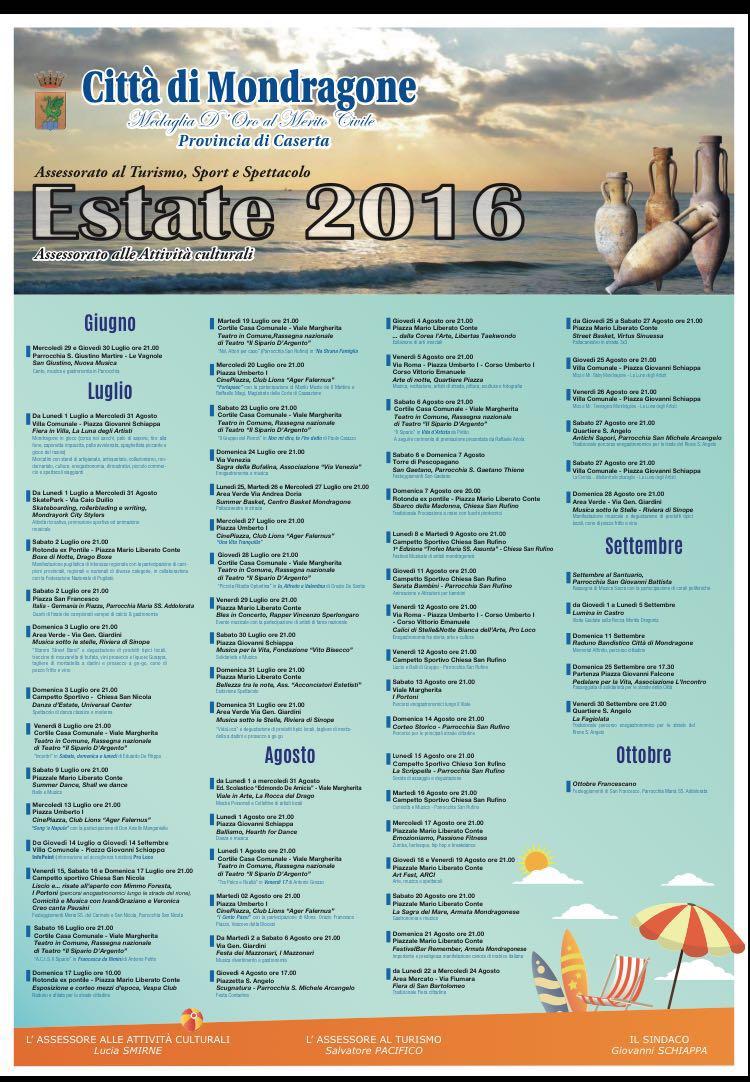 programma estivo 2016