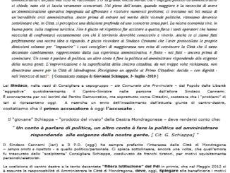manifesto pd mondragone 2013