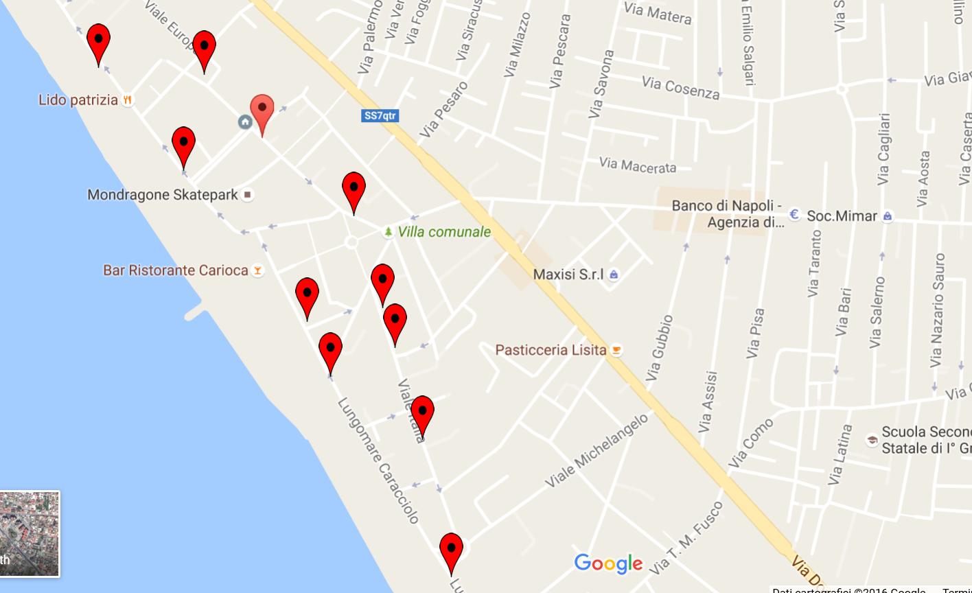 google maps litorale domitio