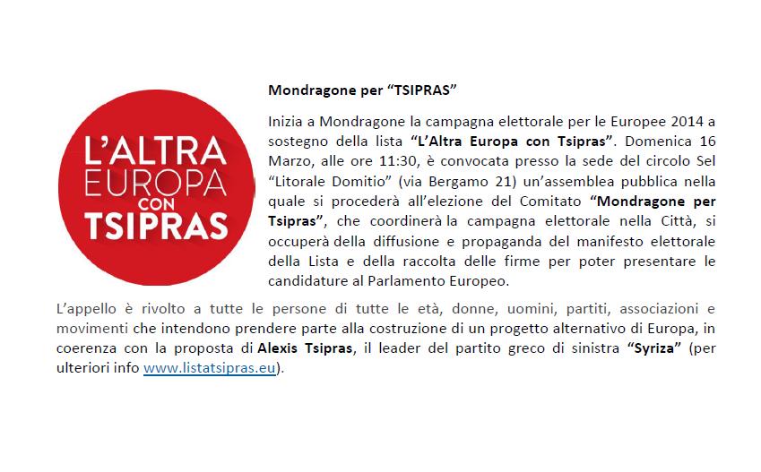 mondragone per tsipras