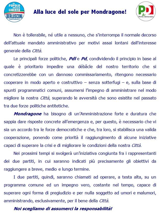 Patto PD – PdL mondragone