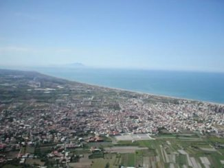 veduta aerea litorale domizio