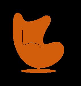 egg+chair+icon+orange