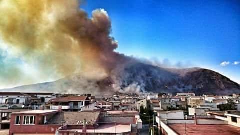 incendio monte petrino