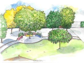 spazi verdi illustrazione