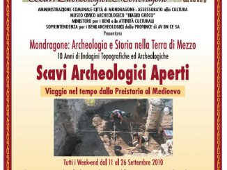 manifesto scavi museo mondragone